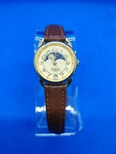 Vintage Armitron 25/5198 Moon Phase Ladies Women's Gold Tone Watch *New battery