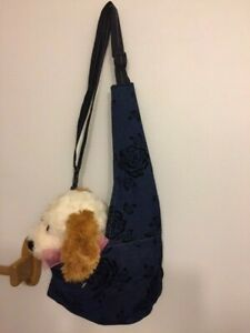 Jean Black Rose Puppy Shoulder Bag Carrier Dog Pet Carols Crate Covers