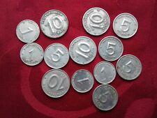 Lot divers de monnaies de RDA 1 / 5 et 10 Pfennig
