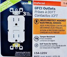 LOT OF 30 LEVITON GFTR1-3W 15A GFCI GFI TAMPER RESISTANT WHITE (10)3-PACKS  NEW