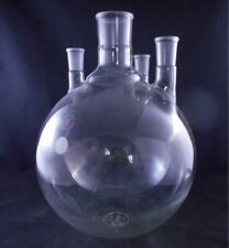 Lab Glass Glass 12000ml 12l 4 Neck Round Bottom Flask 5550 Amp 2942 Vertical 1cs