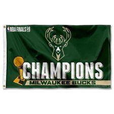 Milwaukee Bucks 2021 Nba Champions Grommet Flag