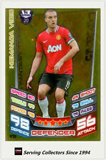 2012-13 Match Attax Legend Foil Card #472 Nemanja Vidic (Man Utd)