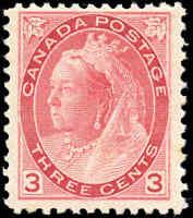 1899 Mint H Canada F+ Scott #77 2c Queen Victoria Numeral Issue Stamp