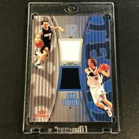 STEVE NASH 2003 / DIRK NOWITZKI FLEER FOCUS #TT-SN/DN DUAL GAME JERSEYS /250 NBA