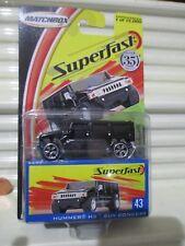 Matchbox 2004 SERIES 1 WAVE D SUPERFAST #43 BLACK HUMMER H2 SUV Concept Nu Boxed