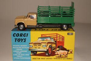 Corgi #484, 1960's Dodge Livestock Truck with Original Box, Nice