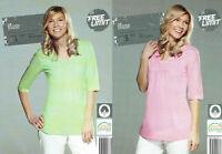 schöne leichte Damen Bluse leichtes Sommer Shirt 100% Baumwolle mit 3/4 Arm
