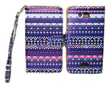 Stylish Tribal Design Wallet Leather Case Kyocera Hydro Wave C6740