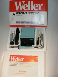 WELLER WTCP-S 50W/24 V PROFI LÖTSTATION +2 ERSATZSPITZEN NEU/OVP UVP 298€