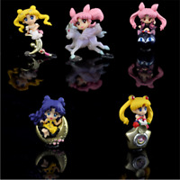 5PCS Anime Sailor Moon Tsukino Usagi PVC Action Figure Collector Figurine Toy