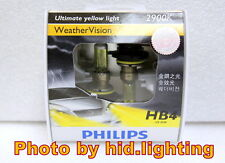 Genuine Philips Weather Vision 9006 HB4 2900K headlight bulb 9006WV Yellow 55W