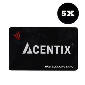 5 x RFID Blocking Card Contactless Protector Blocker Bank Debit Card Wallet UK
