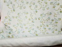 """Sunbrella fabric , floral print,  naturral color Fabric, 54"""" wide, sold by yard"""