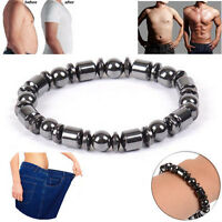 1pc Weight Loss Round Stone Magnetic Therapy Black Bracelet Health Care Noble