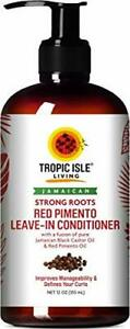 Strong Roots Red Pimento Leave-in Conditioner Silky Soft Hair 12 Ounces Pack 1