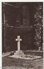 WW1, Nurse Cavell's Grave, Norwich Real Photo Postcard, B520