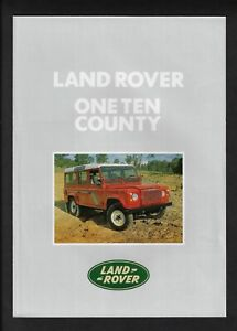 LAND ROVER ONE TEN COUNTY 4 PAGE BROCHURE
