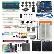 1602 LCD Switch Breadboard Motor LED Dupont Wire Starter Kits for Arduino UNO R3