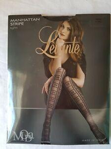 Levante Manhattan Stripe Tights Nero X-Tall Ladies Womens Pantyhose Stockings