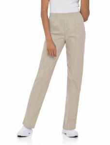Landau Women's Classic Tapered Leg Scrub Pant, Style 8320, Sandstone, Size PXS
