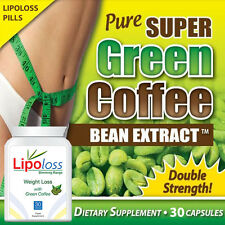 LIPOLOSS WEIGHTLOSS PURE GREEN COFFEE PILLS DIET TABLETS GET SLIM FIT FIGURE