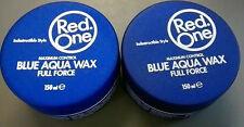 Red One Maximal Kontroll- Blau Aqua Kaugummi Wachs Unbrechbar Stil 150ml X 2