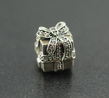 Original PANDORA Element Charm 791400CZ Sparkling Surprise 925 Silver