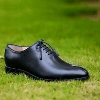 Dress Shoes Wholecut Oxford Men Black Brown Formal Party Handmade Calf Leather