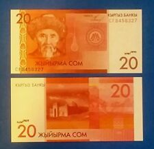 Kyrgyzstan P-24 20 Som Year 2009 ND Uncirculated Banknote