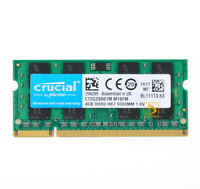 Crucial 4GB 2Rx8 PC2-5300S DDR2 667Mhz 200Pin RAM Memory Laptop 1.8V SODIMM 4 GB