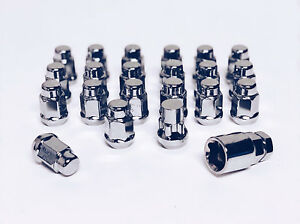 Set of 12x1.5 Chrome Lug Nut & Wheel Lock Combo Mazda Tribute 2 3 Dodge Journey