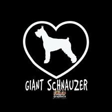 GIANT SCHNAUZER I Love My Vinyl Sticker / Decal AKC Registered Pet Dog Groomer