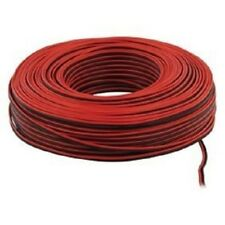 50m Red Black 2 x 0.50mm Speaker Car Audio Hi-Fi Cable Wire Loundspeaker Cables