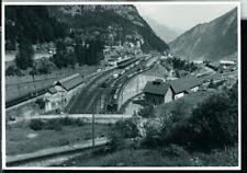 Photo SBB CFF FFS Railway Station Göschenen Switzerland 1971 original