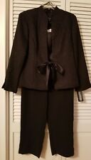 JESSICA HOWARD 3 pc Womens Pant Suit Black Sz 12 Mother of the Bride Cocktail