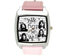 PINK FLOYD THE WALL INOX Pelle Rosa musica King LEGGENDE SQUARE OROLOGIO CD