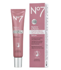 No7 Restore & Renew Face & Neck Multi Action Serum 1.69 oz / 50ml NEW