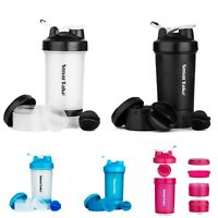 2021 Protein Shaker Bottle Sport Water Milk Gym Workout Fitness Powder Mixer cup