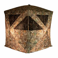 Rhino Blinds R500-RTE RealTree Edge 3 to 4 Person Hunting Ground Blind, RealTree