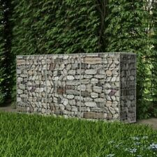 Panier de Gabion Acier 200 x 30 x 100 cm Clôture Murale de Jardin Bordure E7T5