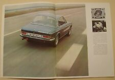 BMW 2800 CS Coupe 1969-71 Original UK Sales Brochure Pub. No. 01819795101
