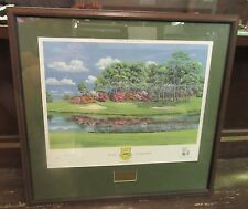 Robert Trent Jones Collection Little Gator 18th Hole Framed/Signed Bill Waugh