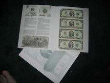 un cut sheets us currency STAR NOTES 12 mint bep folders 1976-2009 rare Ltd Ed's