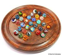 Handmade Marbles Solitaire Game Puzzle Set - 33 x 16mm Glass Art Toy Marble