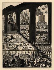 RALPH FABRI, 'PHARAOH'S DREAM', signed etching, 1941.