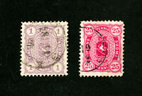 Finland Stamp # 29-30 VF Used Catalogue Value $80.00