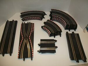 33pc Lot SCX Compact 1/43 Slot Car Track Straight and Curved