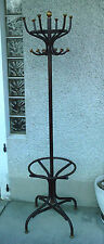 antique coat rack tubular porte manteau perroquet ancien metal 1900 ? thonet ?