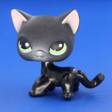 Hasbro LPS Littlest Pet Shop Siamese Kitty Cat Black Short Hair Pink Ear Toys